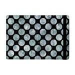 CIRCLES2 BLACK MARBLE & ICE CRYSTALS (R) Apple iPad Mini Flip Case