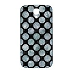 CIRCLES2 BLACK MARBLE & ICE CRYSTALS (R) Samsung Galaxy S4 I9500/I9505  Hardshell Back Case