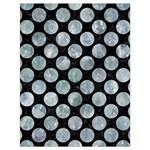 CIRCLES2 BLACK MARBLE & ICE CRYSTALS (R) Drawstring Bag (Large)