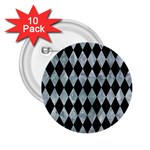 DIAMOND1 BLACK MARBLE & ICE CRYSTALS 2.25  Buttons (10 pack)