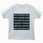 DIAMOND1 BLACK MARBLE & ICE CRYSTALS Kids White T-Shirts