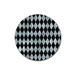 DIAMOND1 BLACK MARBLE & ICE CRYSTALS Magnet 3  (Round)