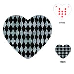 DIAMOND1 BLACK MARBLE & ICE CRYSTALS Playing Cards (Heart)