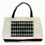 DIAMOND1 BLACK MARBLE & ICE CRYSTALS Basic Tote Bag (Two Sides)
