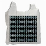 DIAMOND1 BLACK MARBLE & ICE CRYSTALS Recycle Bag (One Side)