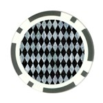 DIAMOND1 BLACK MARBLE & ICE CRYSTALS Poker Chip Card Guard (10 pack)