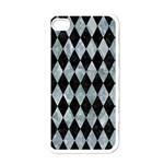 DIAMOND1 BLACK MARBLE & ICE CRYSTALS Apple iPhone 4 Case (White)