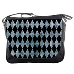 DIAMOND1 BLACK MARBLE & ICE CRYSTALS Messenger Bags