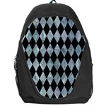 DIAMOND1 BLACK MARBLE & ICE CRYSTALS Backpack Bag