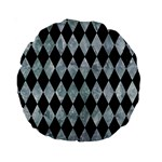 DIAMOND1 BLACK MARBLE & ICE CRYSTALS Standard 15  Premium Round Cushions