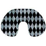 DIAMOND1 BLACK MARBLE & ICE CRYSTALS Travel Neck Pillows