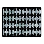 DIAMOND1 BLACK MARBLE & ICE CRYSTALS Double Sided Fleece Blanket (Small)