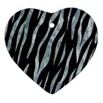 SKIN3 BLACK MARBLE & ICE CRYSTALS (R) Ornament (Heart)