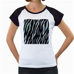 SKIN3 BLACK MARBLE & ICE CRYSTALS (R) Women s Cap Sleeve T
