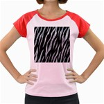SKIN3 BLACK MARBLE & ICE CRYSTALS (R) Women s Cap Sleeve T-Shirt