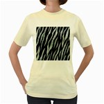 SKIN3 BLACK MARBLE & ICE CRYSTALS (R) Women s Yellow T-Shirt