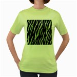 SKIN3 BLACK MARBLE & ICE CRYSTALS (R) Women s Green T-Shirt