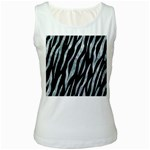 SKIN3 BLACK MARBLE & ICE CRYSTALS (R) Women s White Tank Top