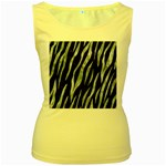 SKIN3 BLACK MARBLE & ICE CRYSTALS (R) Women s Yellow Tank Top