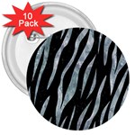 SKIN3 BLACK MARBLE & ICE CRYSTALS (R) 3  Buttons (10 pack)