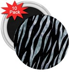 SKIN3 BLACK MARBLE & ICE CRYSTALS (R) 3  Magnets (10 pack)
