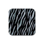 SKIN3 BLACK MARBLE & ICE CRYSTALS (R) Rubber Coaster (Square)