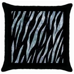 SKIN3 BLACK MARBLE & ICE CRYSTALS (R) Throw Pillow Case (Black)