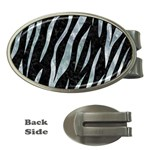 SKIN3 BLACK MARBLE & ICE CRYSTALS (R) Money Clips (Oval)