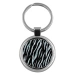 SKIN3 BLACK MARBLE & ICE CRYSTALS (R) Key Chains (Round)