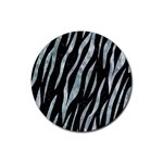 SKIN3 BLACK MARBLE & ICE CRYSTALS (R) Rubber Coaster (Round)