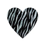 SKIN3 BLACK MARBLE & ICE CRYSTALS (R) Heart Magnet