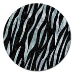 SKIN3 BLACK MARBLE & ICE CRYSTALS (R) Magnet 5  (Round)