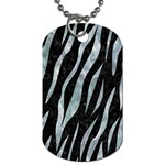 SKIN3 BLACK MARBLE & ICE CRYSTALS (R) Dog Tag (One Side)