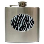 SKIN3 BLACK MARBLE & ICE CRYSTALS (R) Hip Flask (6 oz)