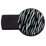 SKIN3 BLACK MARBLE & ICE CRYSTALS (R) USB Flash Drive Round (2 GB)