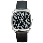 SKIN3 BLACK MARBLE & ICE CRYSTALS (R) Square Metal Watch