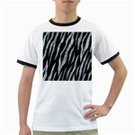 SKIN3 BLACK MARBLE & ICE CRYSTALS (R) Ringer T-Shirts