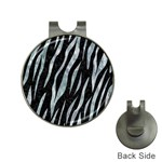 SKIN3 BLACK MARBLE & ICE CRYSTALS (R) Hat Clips with Golf Markers