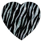 SKIN3 BLACK MARBLE & ICE CRYSTALS (R) Jigsaw Puzzle (Heart)