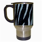 SKIN3 BLACK MARBLE & ICE CRYSTALS (R) Travel Mugs (White)