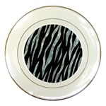 SKIN3 BLACK MARBLE & ICE CRYSTALS (R) Porcelain Plates