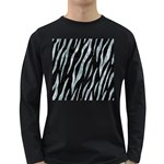 SKIN3 BLACK MARBLE & ICE CRYSTALS (R) Long Sleeve Dark T-Shirts