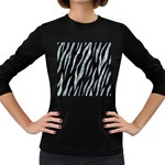 SKIN3 BLACK MARBLE & ICE CRYSTALS (R) Women s Long Sleeve Dark T-Shirts