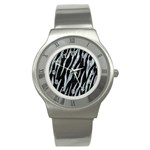 SKIN3 BLACK MARBLE & ICE CRYSTALS (R) Stainless Steel Watch