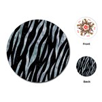 SKIN3 BLACK MARBLE & ICE CRYSTALS (R) Playing Cards (Round)