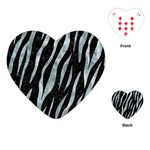 SKIN3 BLACK MARBLE & ICE CRYSTALS (R) Playing Cards (Heart)