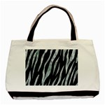 SKIN3 BLACK MARBLE & ICE CRYSTALS (R) Basic Tote Bag