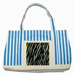 SKIN3 BLACK MARBLE & ICE CRYSTALS (R) Striped Blue Tote Bag
