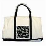 SKIN3 BLACK MARBLE & ICE CRYSTALS (R) Two Tone Tote Bag
