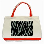 SKIN3 BLACK MARBLE & ICE CRYSTALS (R) Classic Tote Bag (Red)